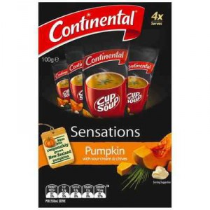 Continental Sensations Pumpkin Soup With Sour Cream & Chives