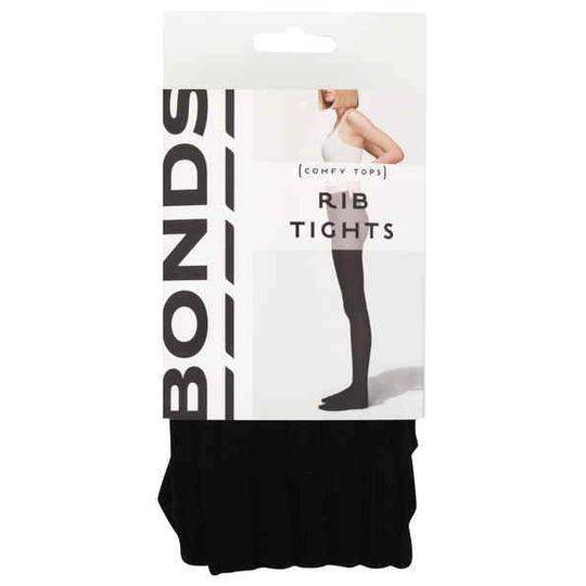 Bonds Comfy Tops Rib Tights Black Sml-med