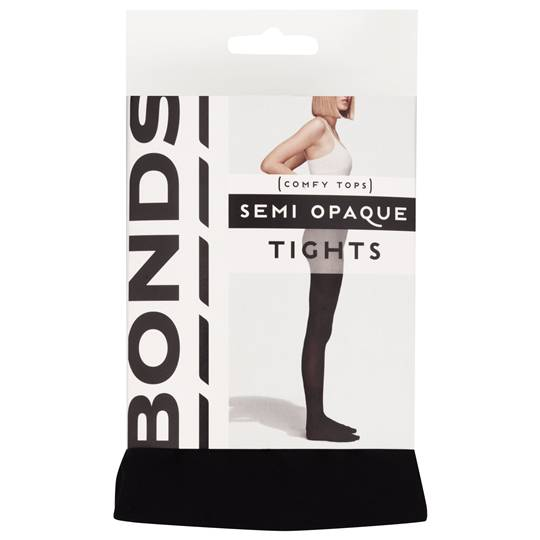 Bonds Comfy Tops Semi Opaque Tights Black Med-lge