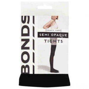 Bonds Comfy Tops Semi Opaque Tights Black Sml-med