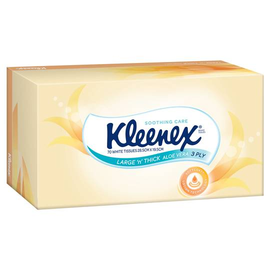 Kleenex Facial Tissues Large & Thick Aloe Vera