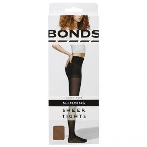 Bonds Comfy Tops Slimming Sheer Tights Nude Sml