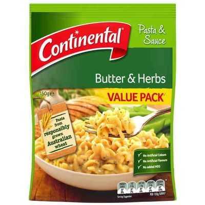 Continental Pasta & Sauce Butter & Herbs