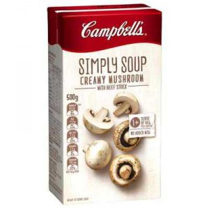 Campbell's Simply Soup Carton Creamy Mushroom
