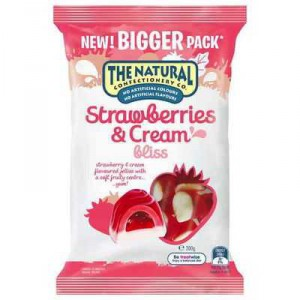 The Natural Confectionery Co Strawberries & Cream