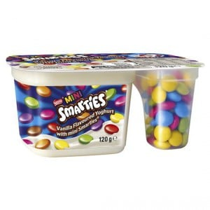 Nestle Smarties Split Pot Yoghurt