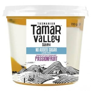 Tamar Valley Greek Style Yoghurt Passionfruit No Added Sugar