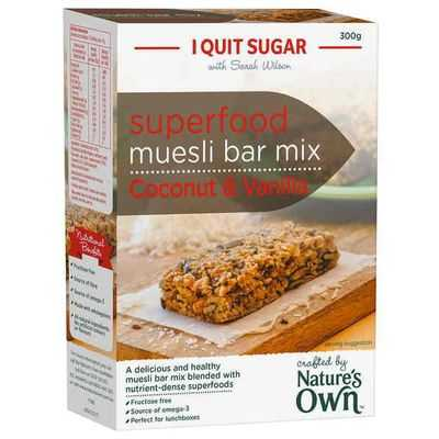 Nature's Own I Quit Sugar Superfood Muesli Bar Mix Coconut & Vanilla