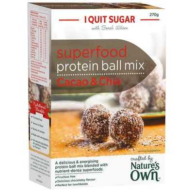 Nature's Own I Quit Sugar Superfood Protein Ball Mix Cacao & Chia