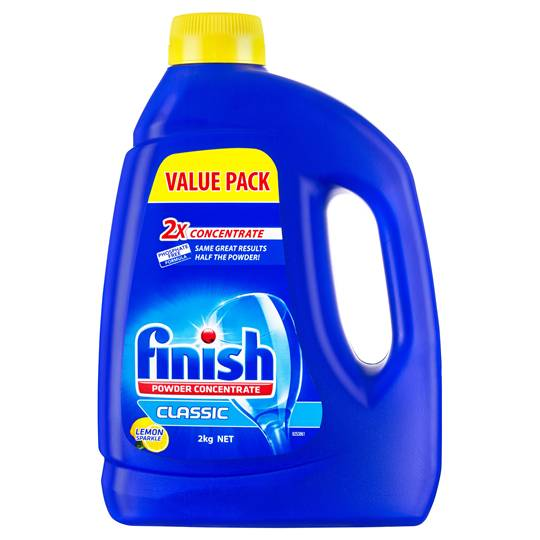 Finish Classic Dishwashing Powder Lemon