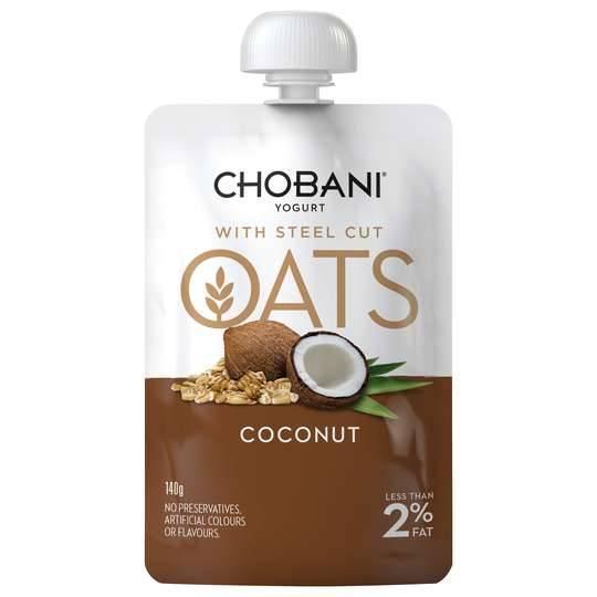 Chobani Coconut With Steel-cut Oats Yoghurt Pouch