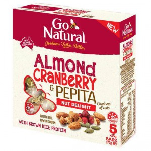 Go Natural Bars Almond Cranberry