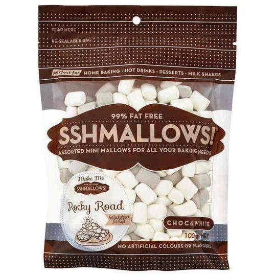 Sshmallows Mini Marshmallows Choc & White