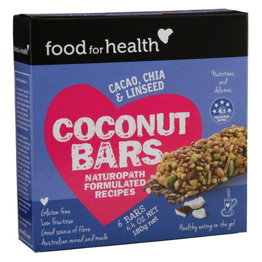 Food For Health Bars Cocnut