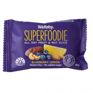 Wallaby Superfoodie Bar Blueberry Lemon