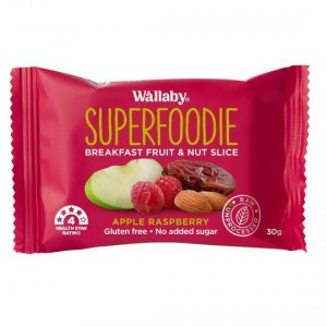 Wallaby Superfoodie Apple Raspberry Bar