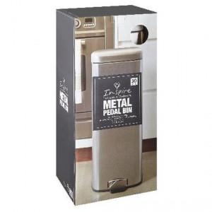 Inspire Metal Pedal Bin 30l