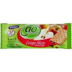 Mcvities Go Ahead Crispy Slices Sultana & Apple (5x3pk)