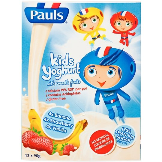 Pauls Spaceboy Vanilla Strawberry Banana Yoghurt