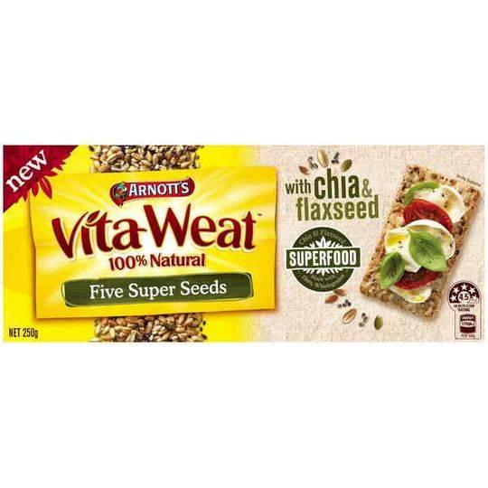 Arnott's Vita Weat Crispbread 5 Super Seeds