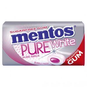 Mentos Pure White Gum Bubble
