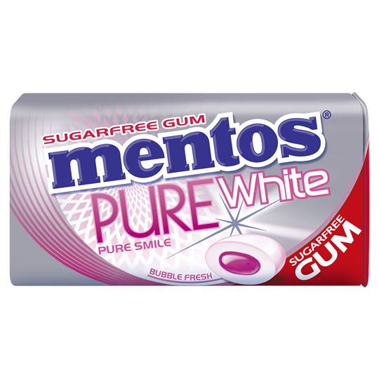 Mentos Pure White Gum Bubble