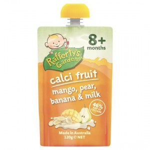 Rafferty's Garden Calci-fruit Mango, Pear & Banana 8 Months+