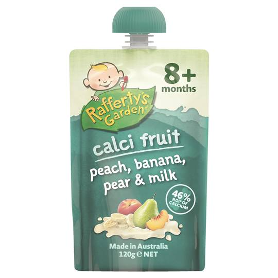 Rafferty's Garden Calci-fruit Peach, Banana & Pear 8 Months+