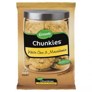 Greens Chunkies White Choc & Macadamia Cookies