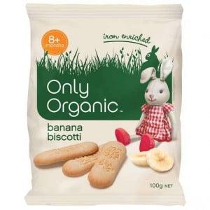 Only Organic Banana Biscotti