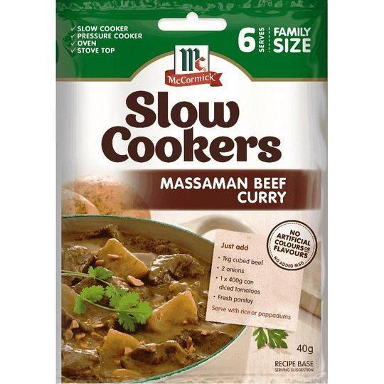 Mccormick Slow Cooker Massaman Coconut Beef