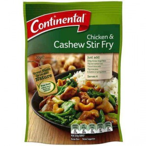 Continental Recipe Base Chicken & Cashew Stir Fry
