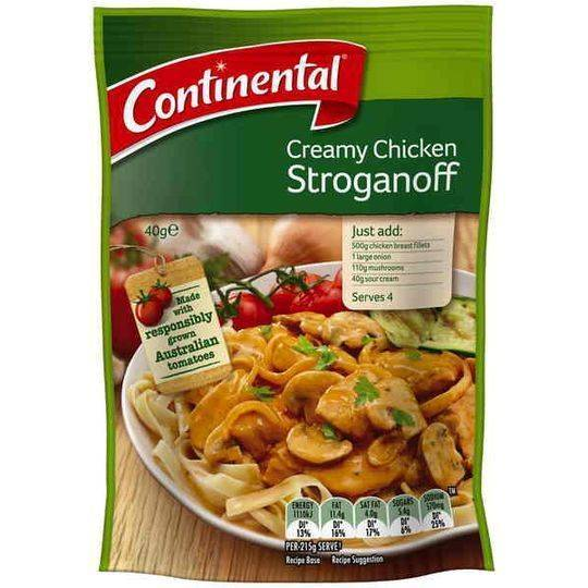 Continental Recipe Base Creamy Chicken Stroganoff
