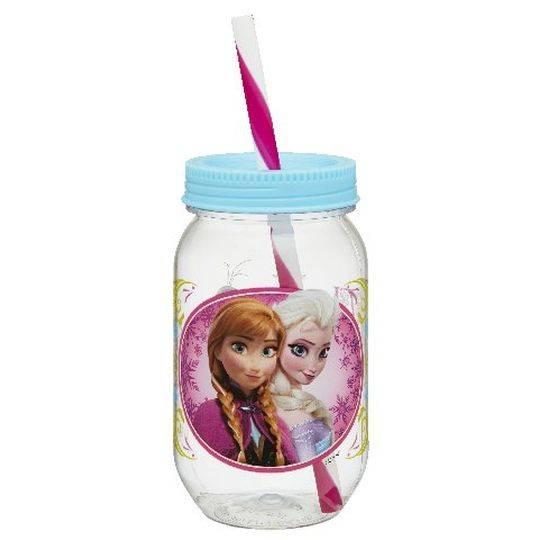 Zak Drinkware Jar With Straw Frozen