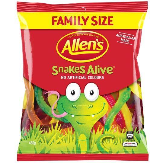 Allen's Snakes Alive Lollies