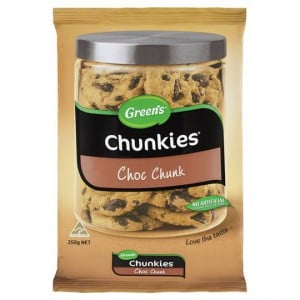 Greens Chunkies Choc Chunk Cookies