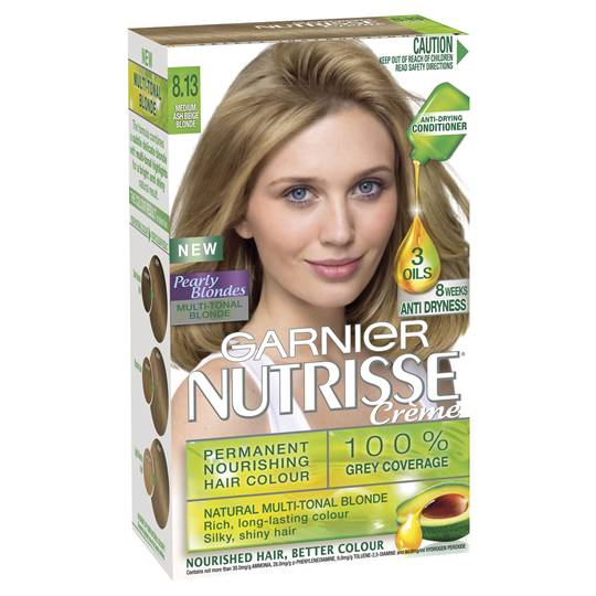 Garnier Nutrisse Pearly Blondes 8.13 Medium Beige Blonde