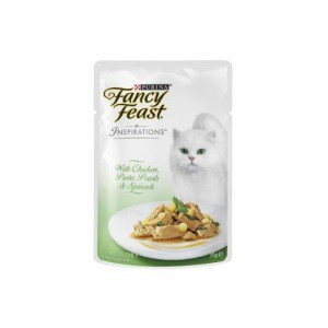 Fancy Feast Inspirations Chicken With Silky Pasta Pearls & Spinach