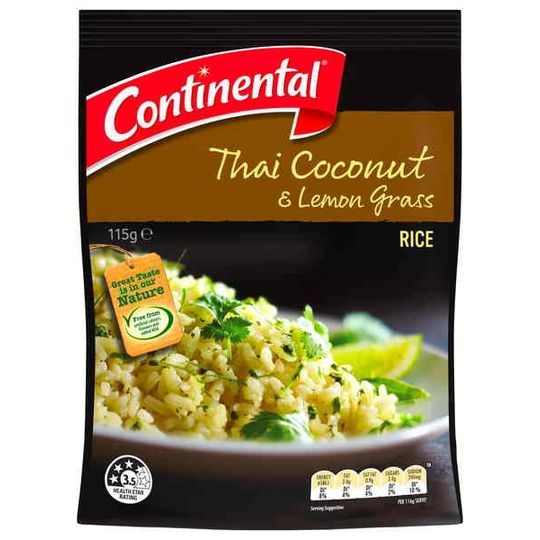 Continental Side Dish Thai Coconut Lemon Grass Rice