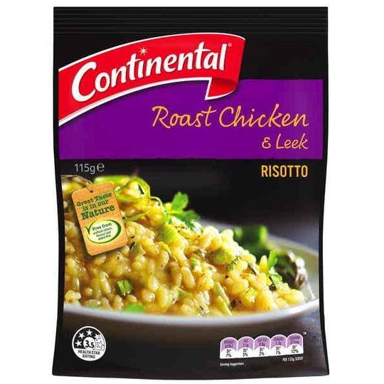 Continental Side Dish Roast Chicken & Leek Risotto