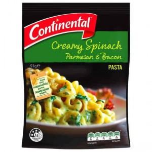 Continental Side Dish Spinach Parmesan & Bacon