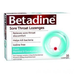 Betadine Sore Throat Lozenges Menthol & Eucalyptus