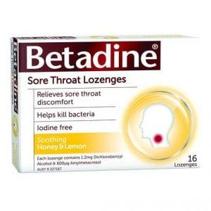Betadine Sore Throat Lozenges Honey & Lemon