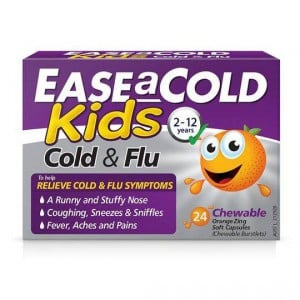 Ease A Cold Kids Chewable Berry Cold & Flu Tablets 2-12yrs