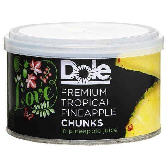 Love Dole Premium Tropical Pineapple Chunks In Juice