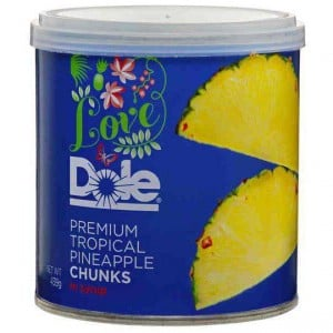 Love Dole Premium Tropical Pineapple Chunks In Syrup