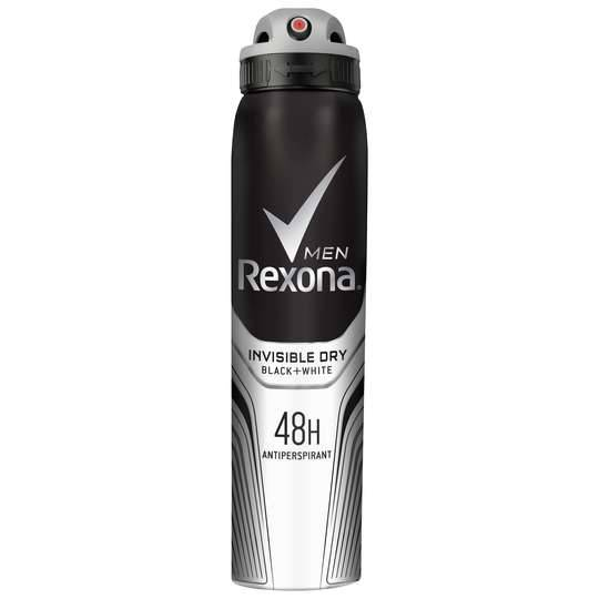 Rexona Men Antiperspirant Deodorant Spray Invisible Dry Black + White