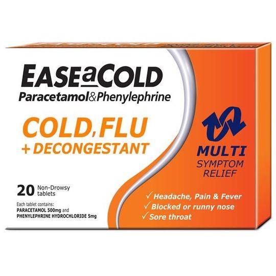 Ease A Cold Non Drowsy Cold & Flu Plus Decongestant