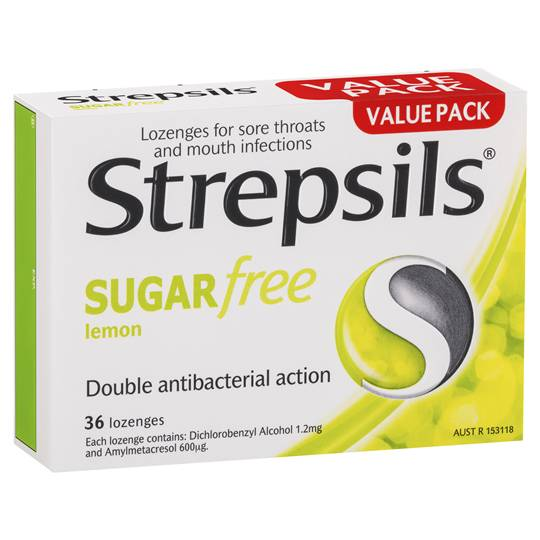 Strepsils Sugar Free Lemon Lozenges