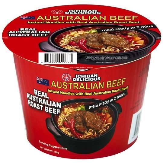 Ichiban Noodle Bowl Roast Beef